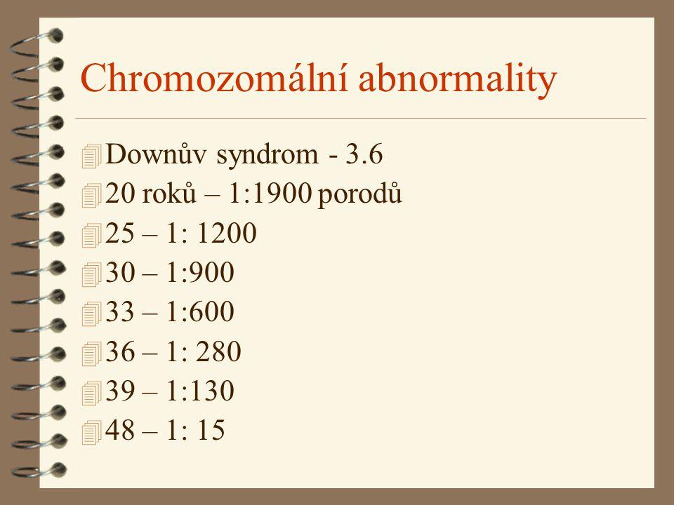 Chromozomální abnormality