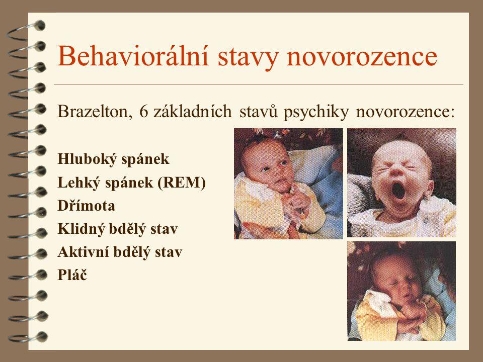 Behaviorální stavy novorozence
