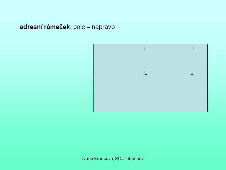 adresní rámeček: pole – napravo