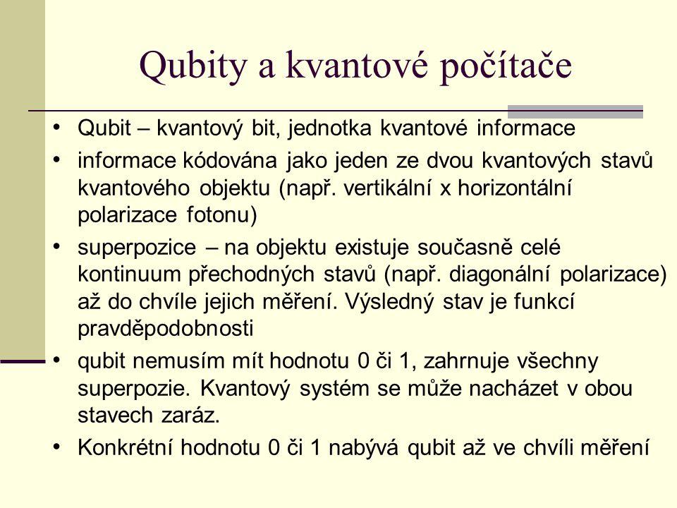 Qubity a kvantové počítače