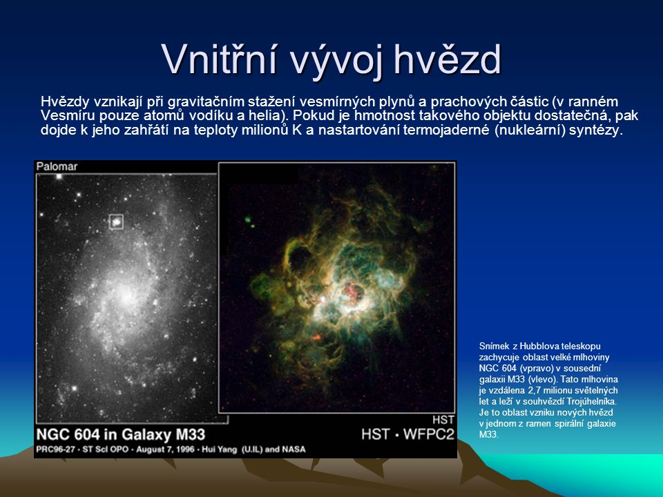Vnitřní vývoj hvězd