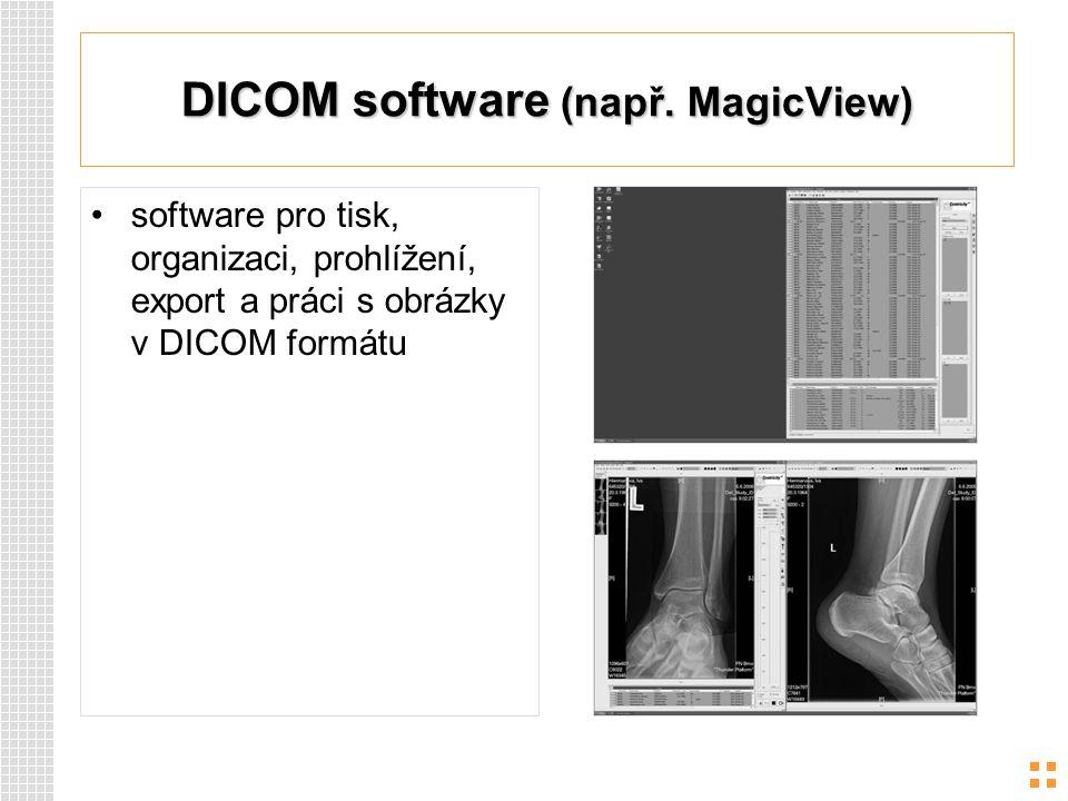 DICOM software (např. MagicView)