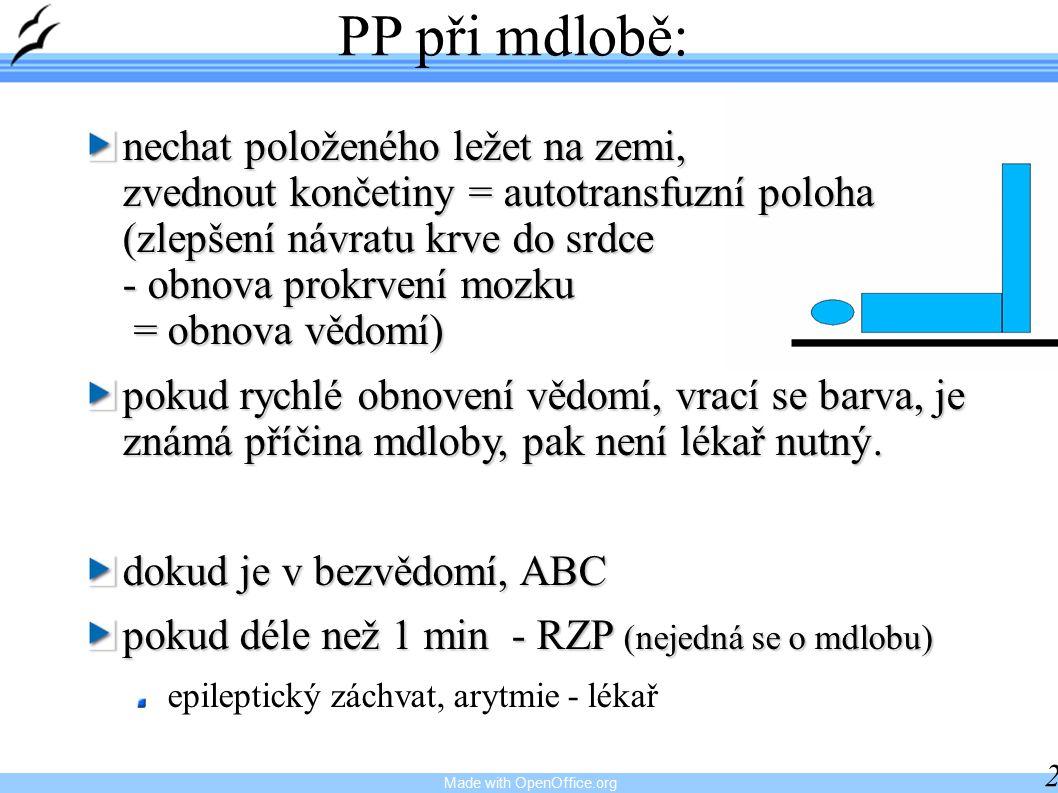 PP při mdlobě: