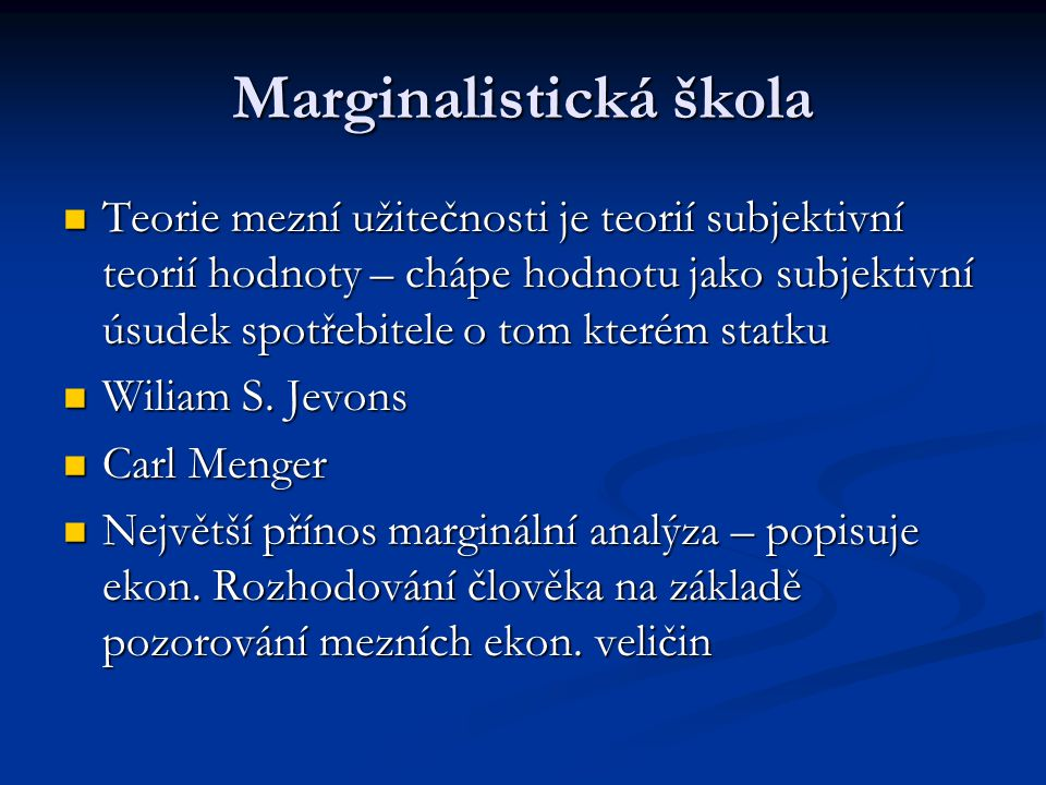 Marginalistická škola