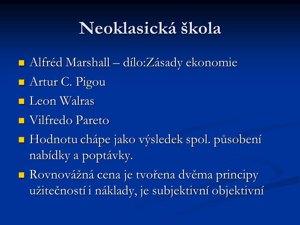 Neoklasická škola Alfréd Marshall – dílo:Zásady ekonomie