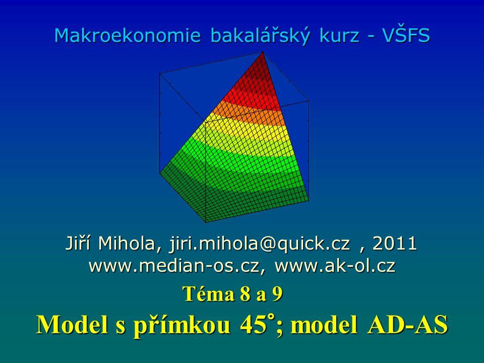 Model s přímkou 45°; model AD-AS