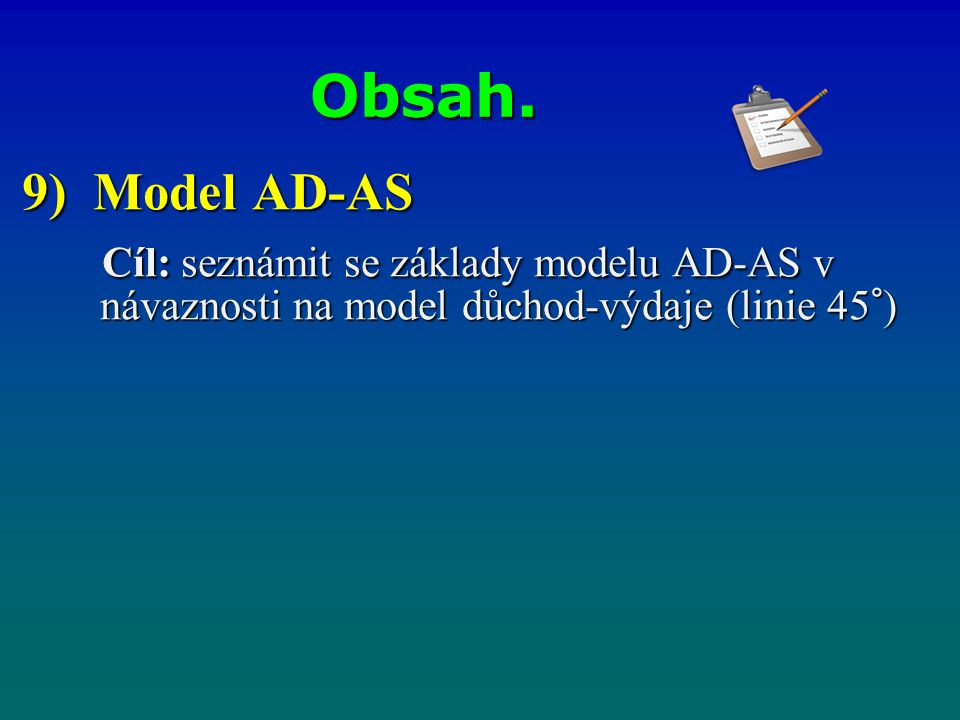 Obsah. 9) Model AD-AS.