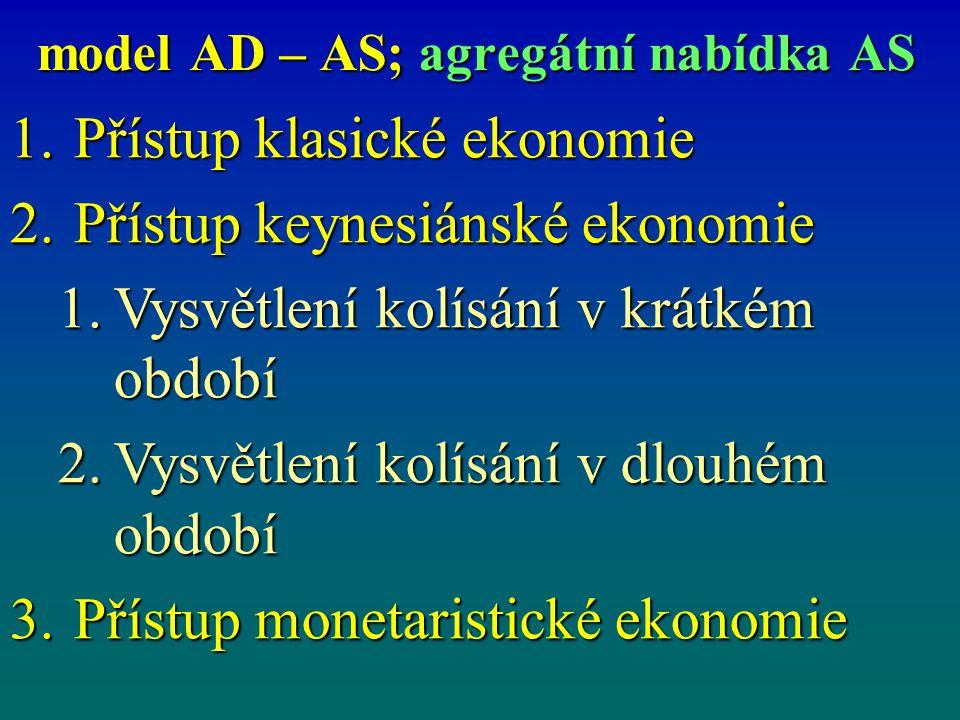 model AD – AS; agregátní nabídka AS