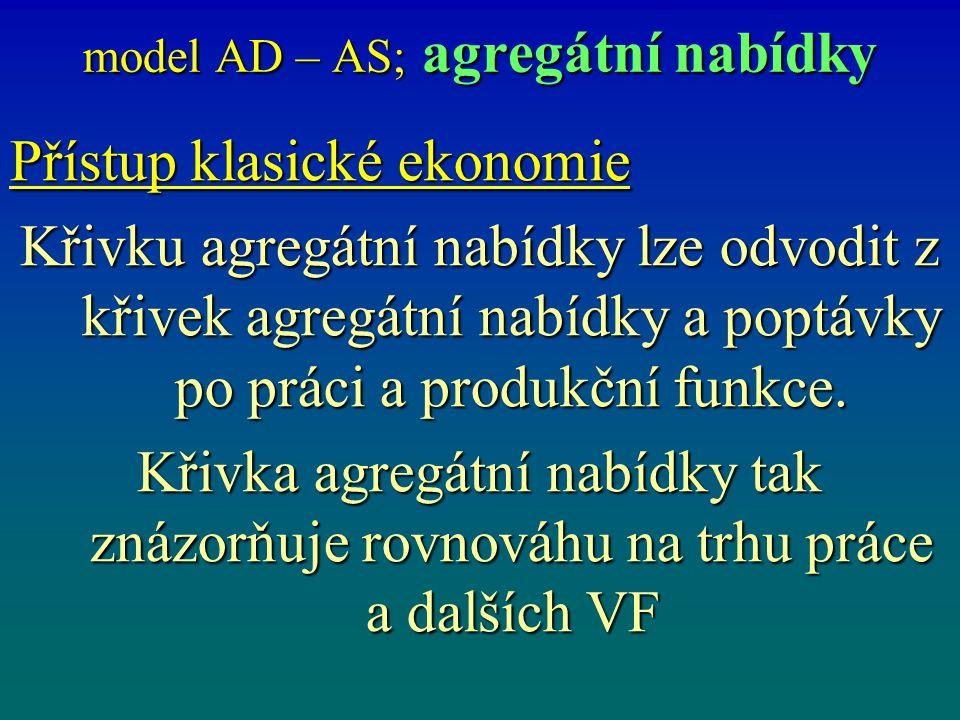 model AD – AS; agregátní nabídky
