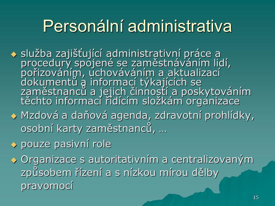 Personální administrativa
