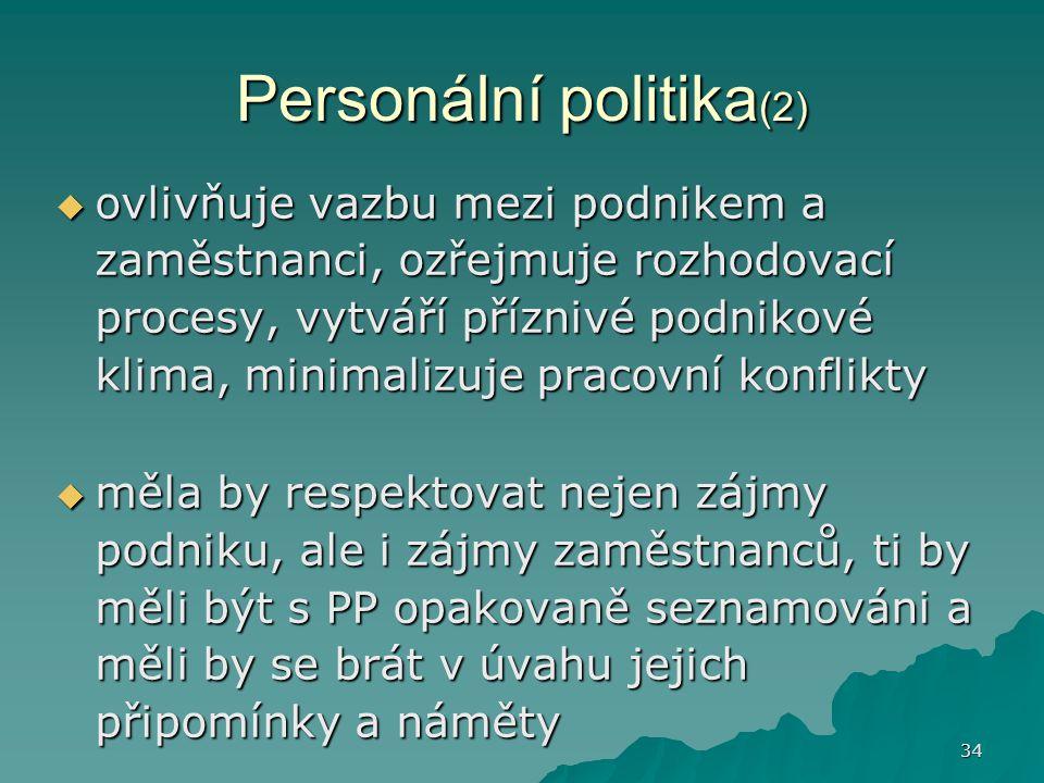 Personální politika(2)