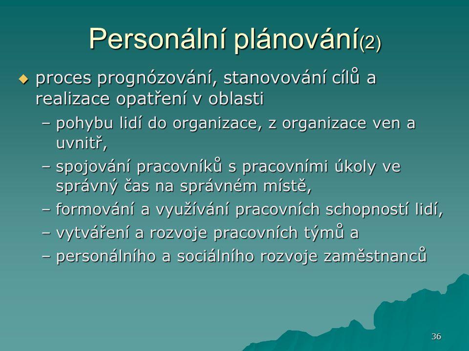 Personální plánování(2)
