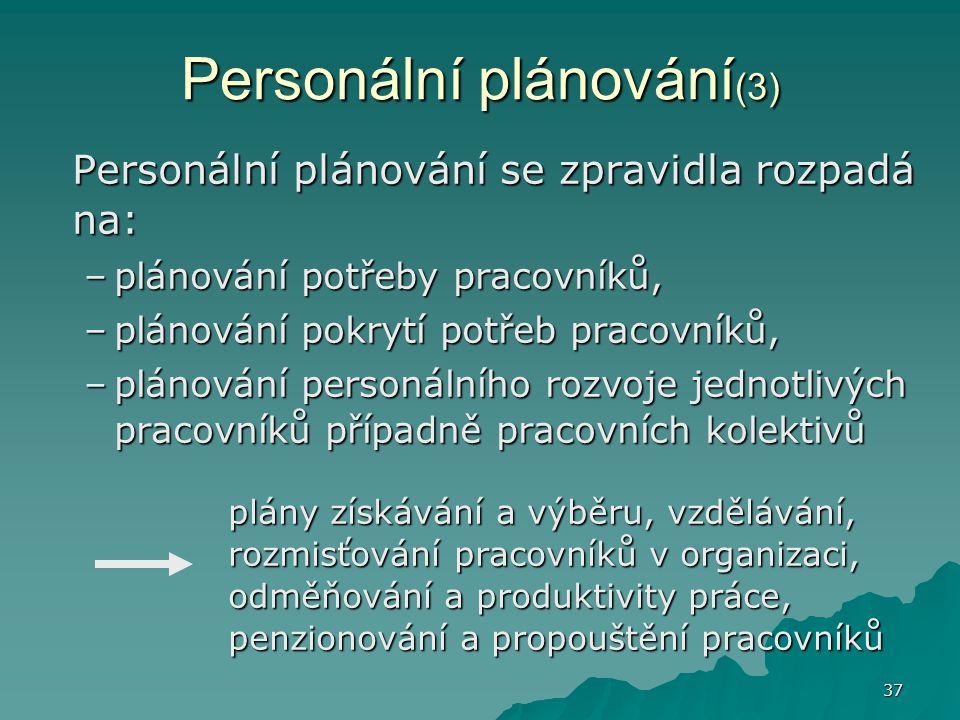 Personální plánování(3)