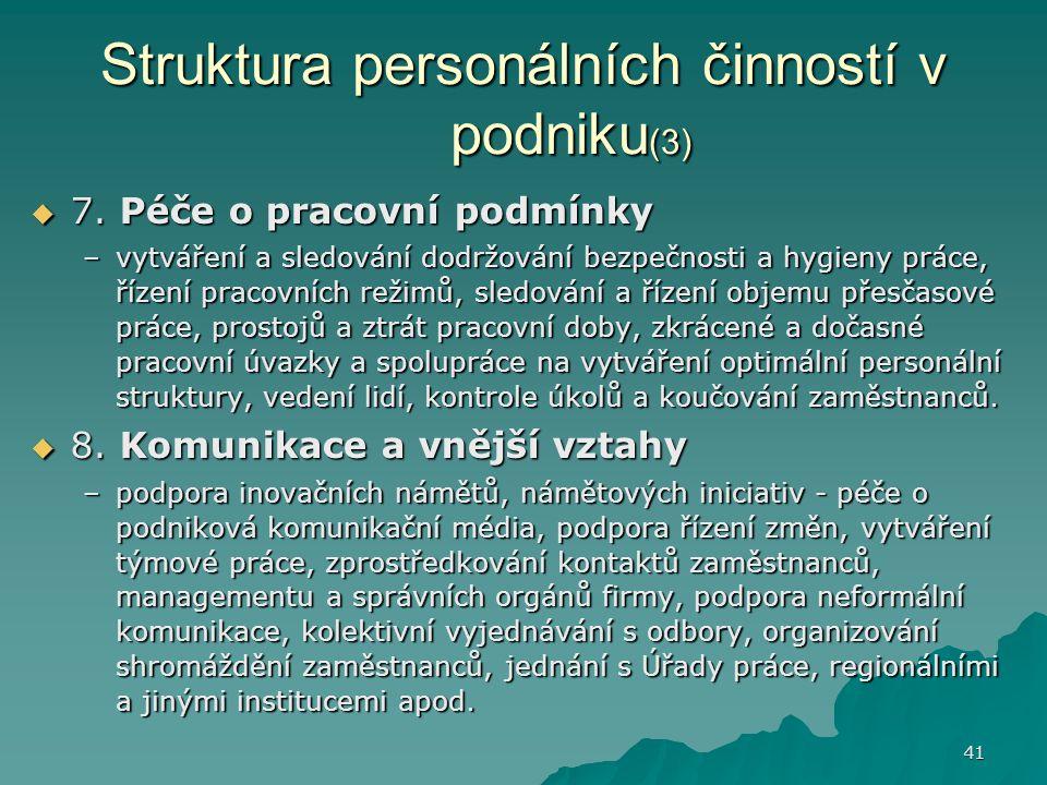 Struktura personálních činností v podniku(3)
