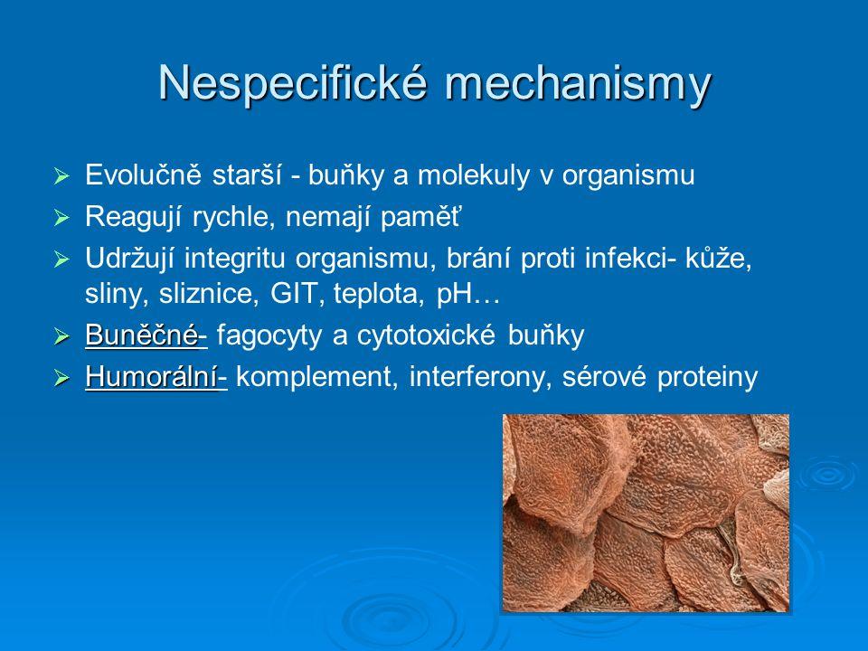 Nespecifické mechanismy