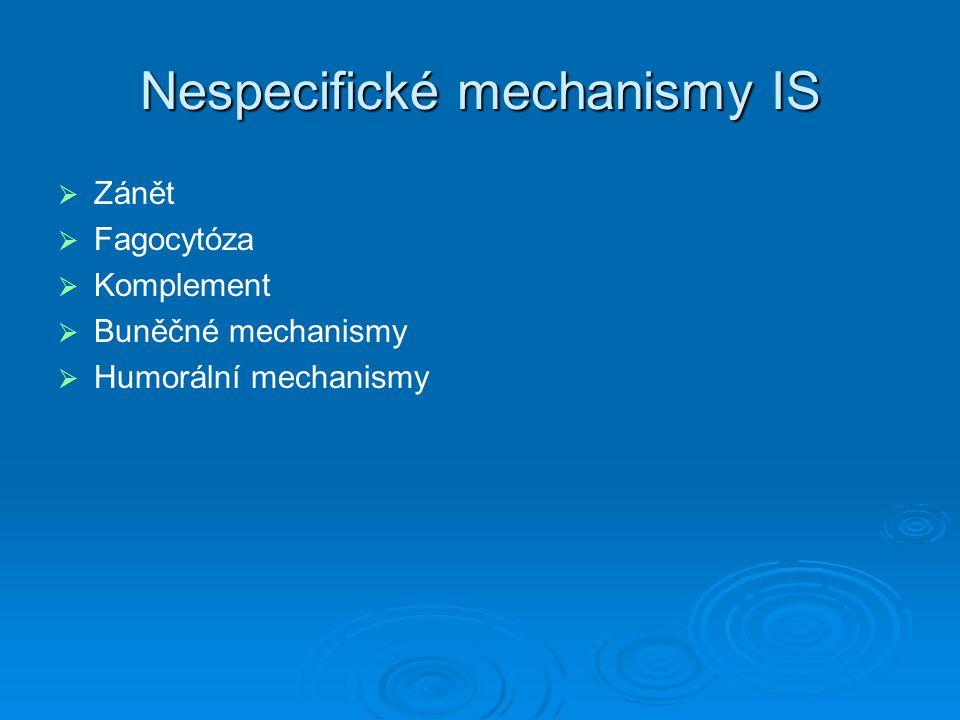 Nespecifické mechanismy IS