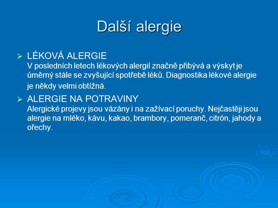 Další alergie