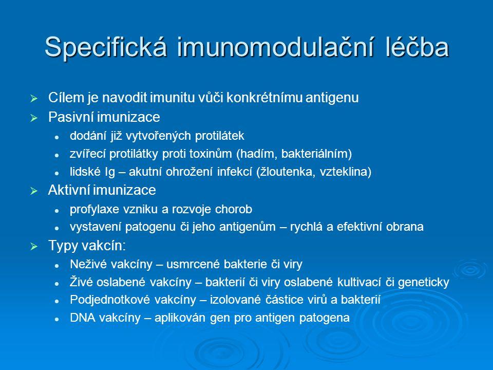 Specifická imunomodulační léčba