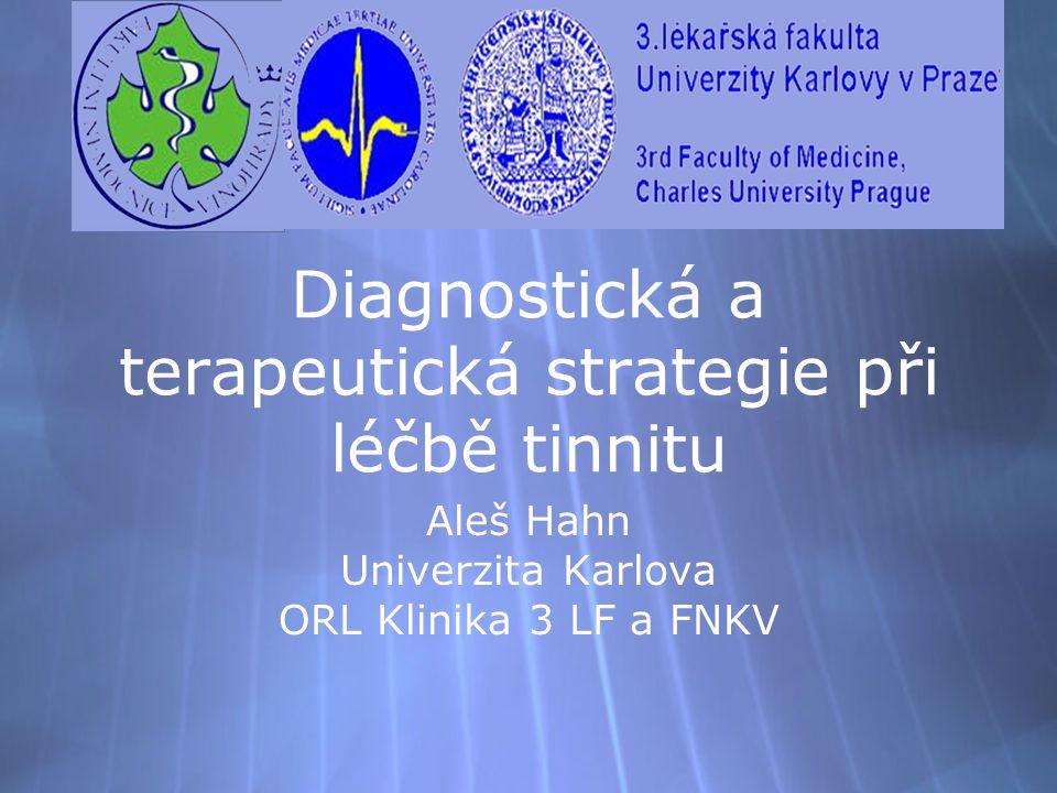 Diagnostická a terapeutická strategie při léčbě tinnitu