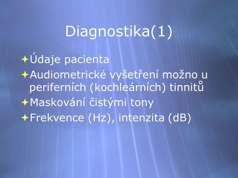 Diagnostika(1) Údaje pacienta