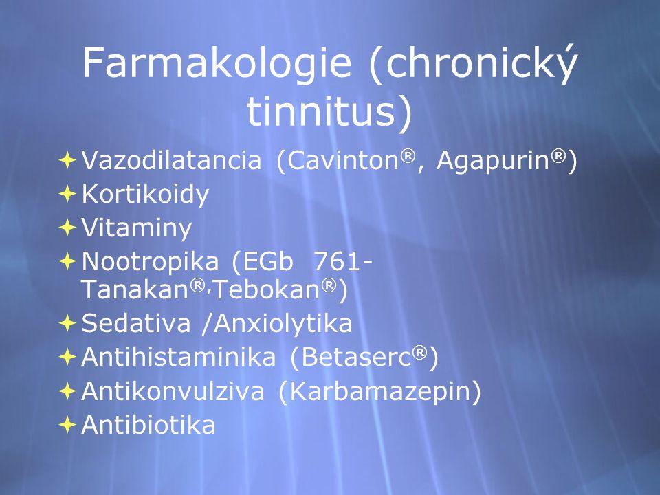 Farmakologie (chronický tinnitus)