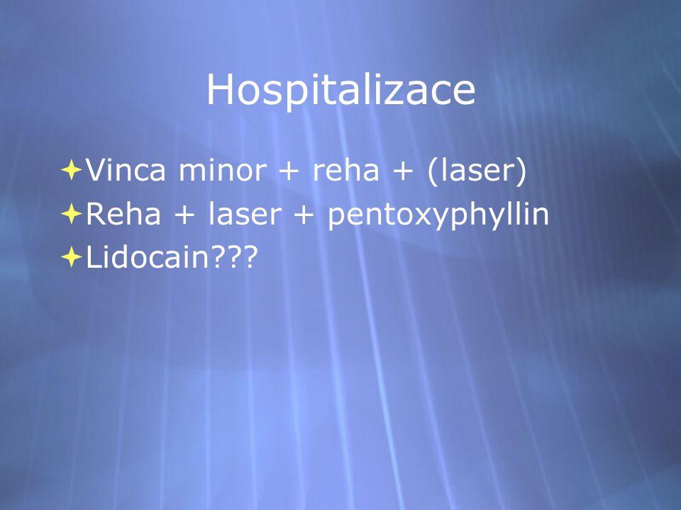 Hospitalizace Vinca minor + reha + (laser)