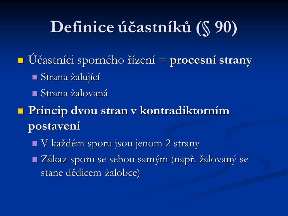 Definice účastníků (§ 90)