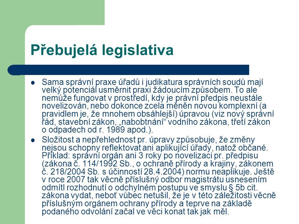 Přebujelá legislativa