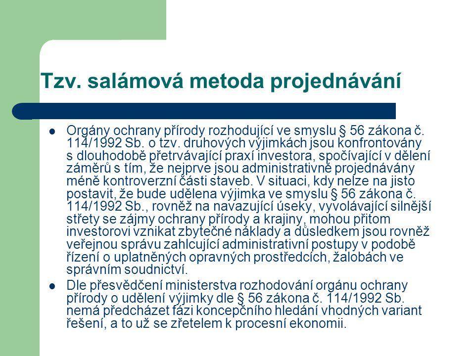 Tzv. salámová metoda projednávání