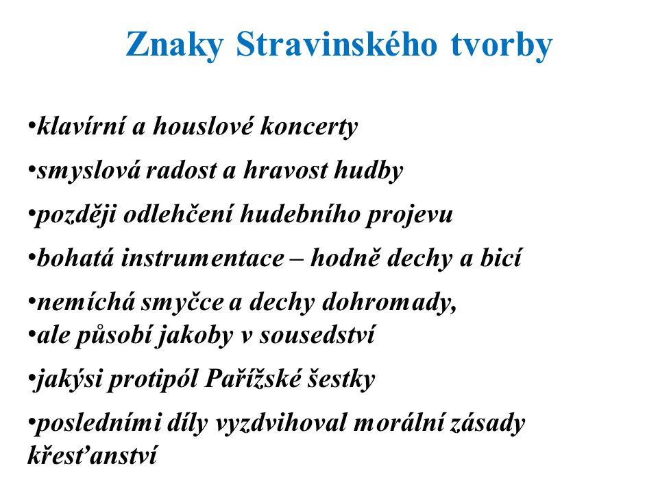 Znaky Stravinského tvorby