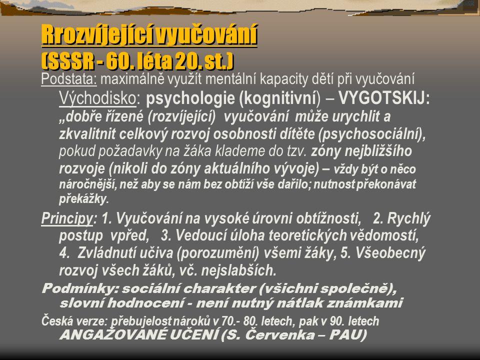 Rrozvíjející vyučování (SSSR - 60. léta 20. st.)