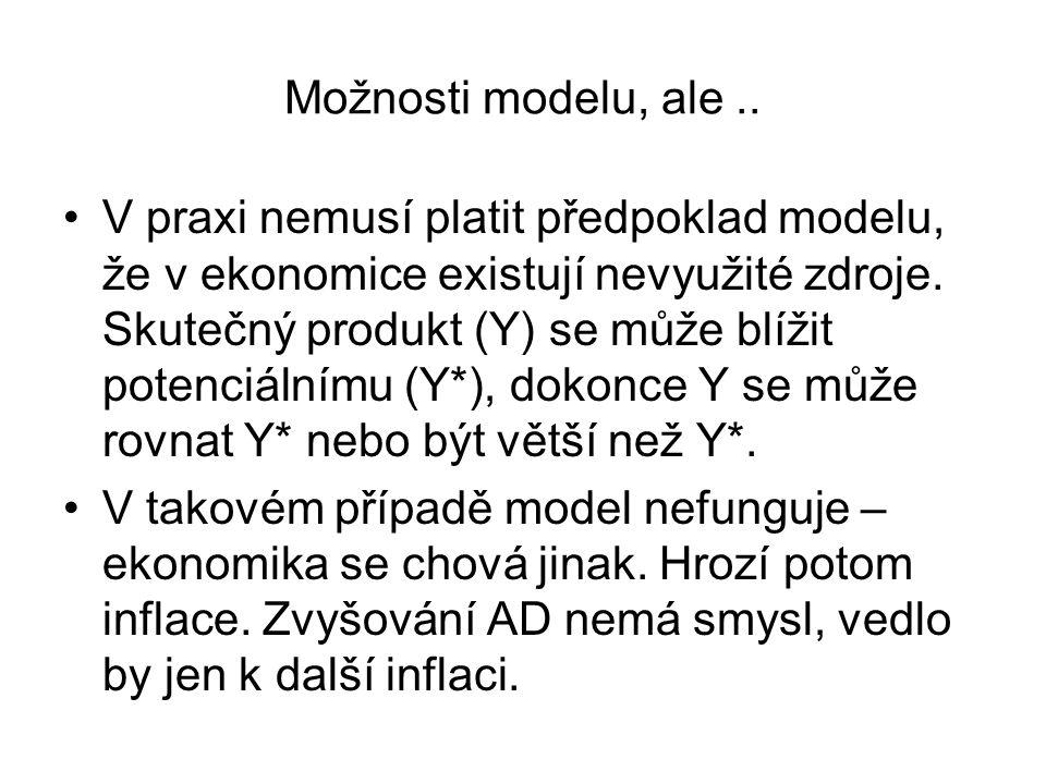 Možnosti modelu, ale ..