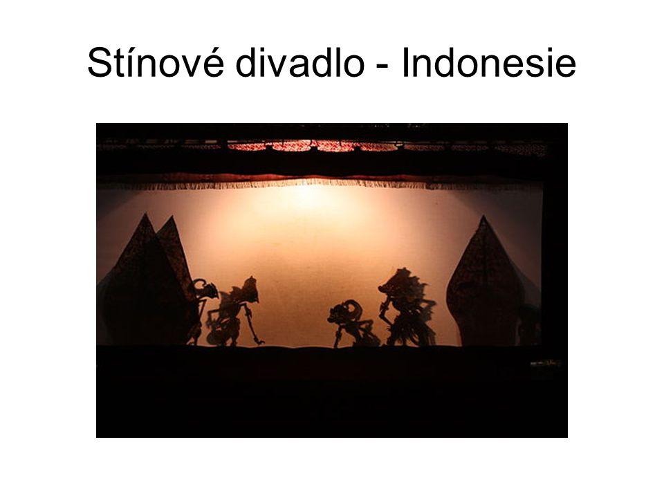 Stínové divadlo - Indonesie