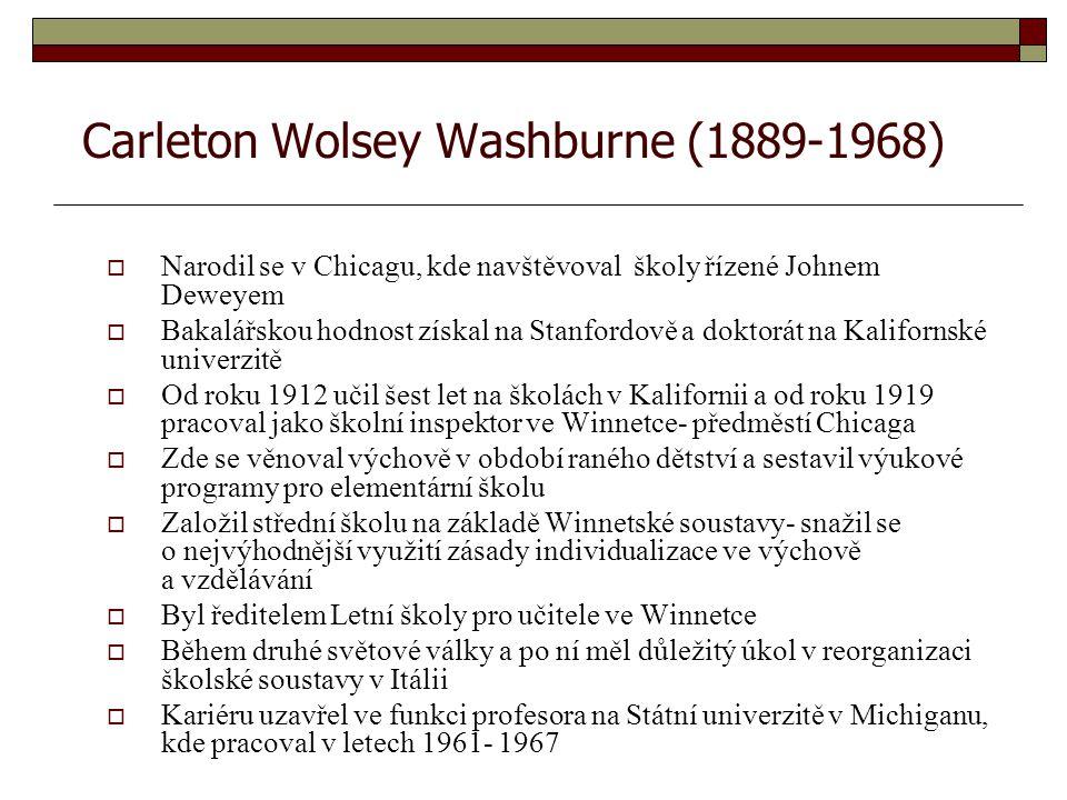 Carleton Wolsey Washburne (1889-1968)