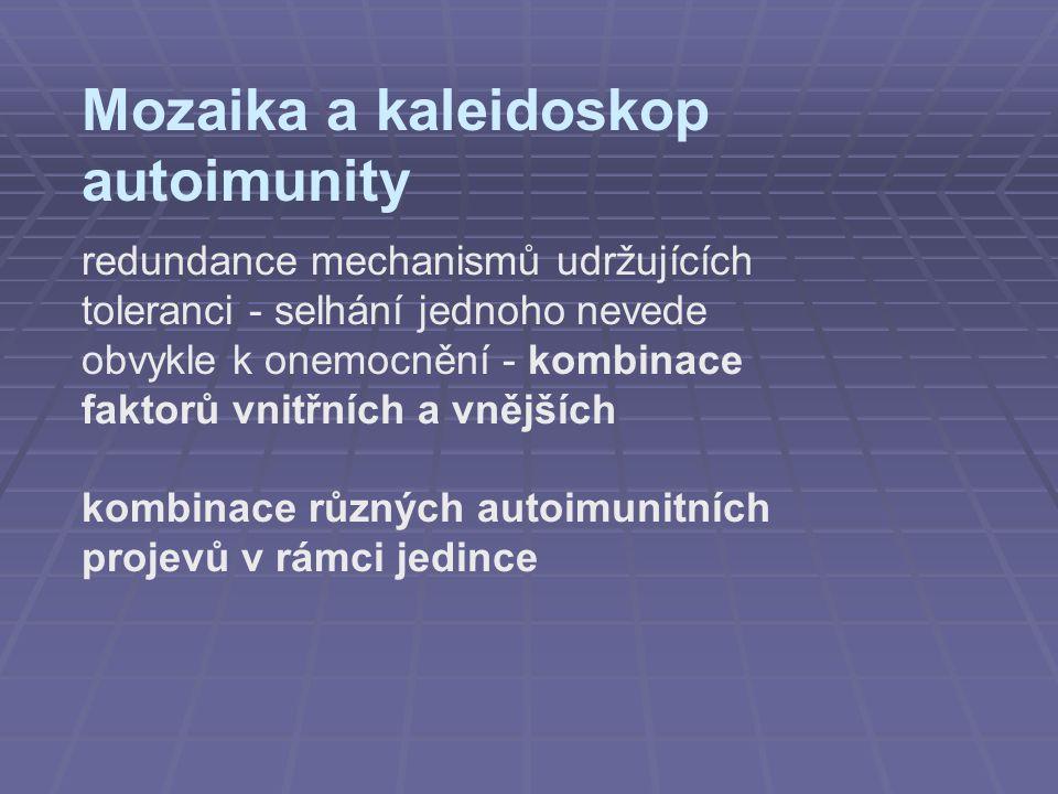 Mozaika a kaleidoskop autoimunity