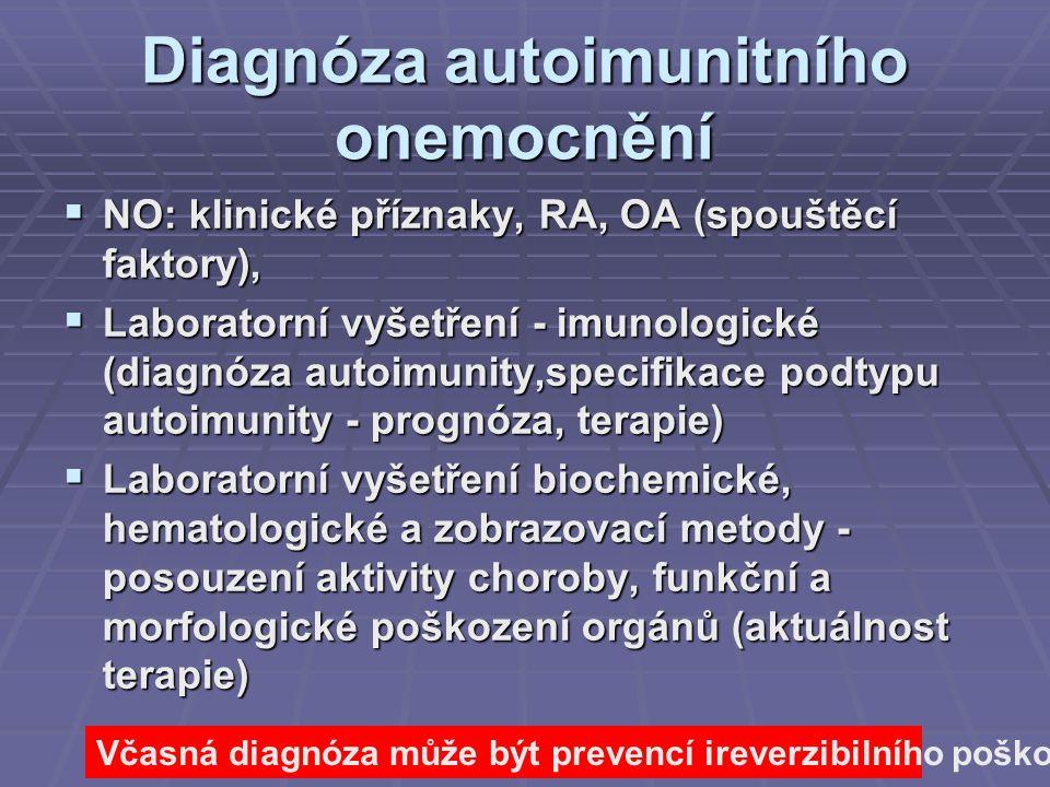 Diagnóza autoimunitního onemocnění