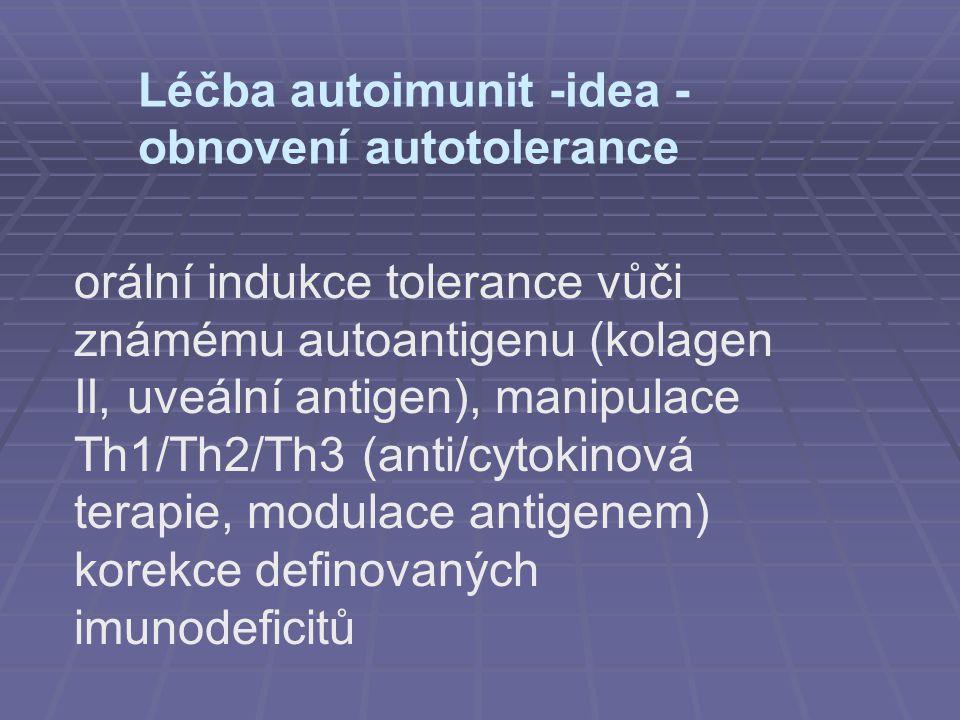 Léčba autoimunit -idea - obnovení autotolerance