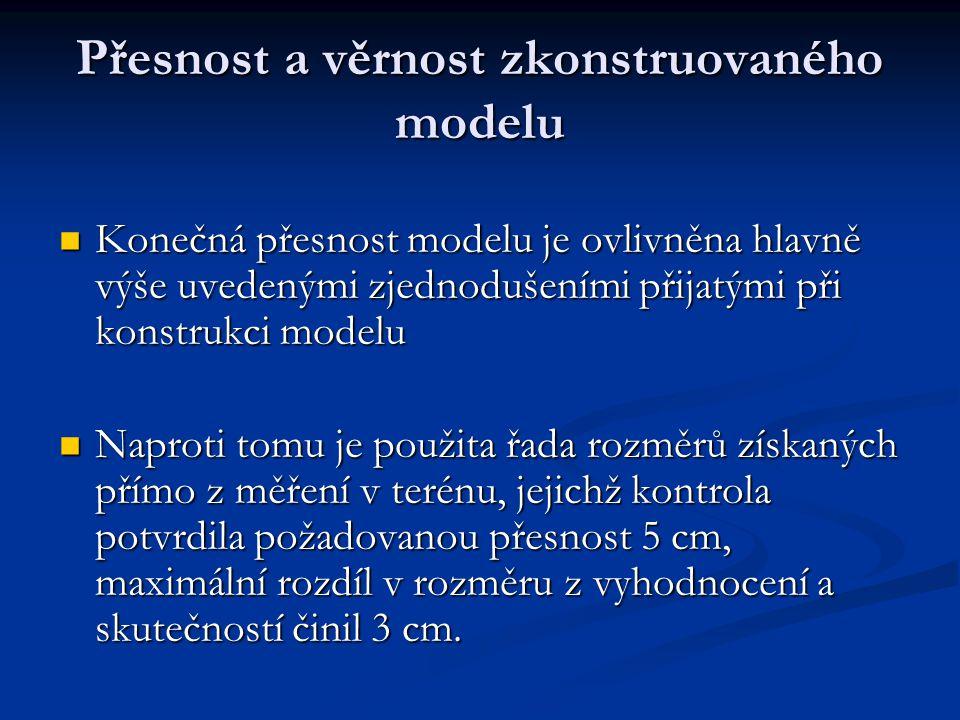 Přesnost a věrnost zkonstruovaného modelu