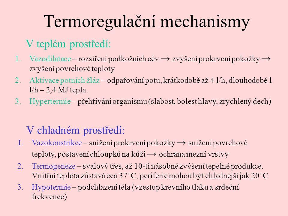 Termoregulační mechanismy