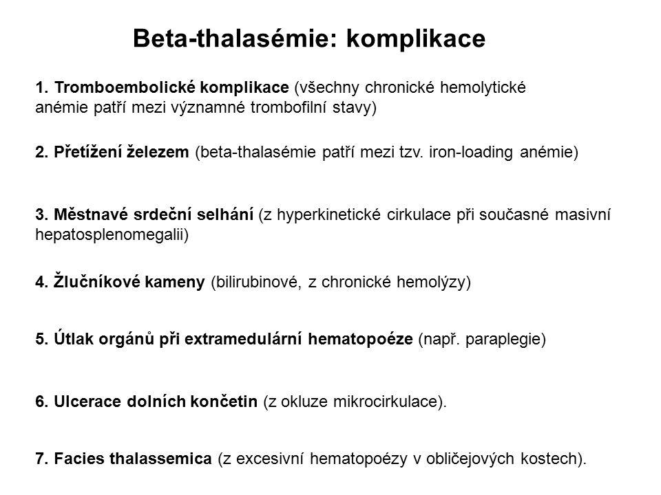 Beta-thalasémie: komplikace