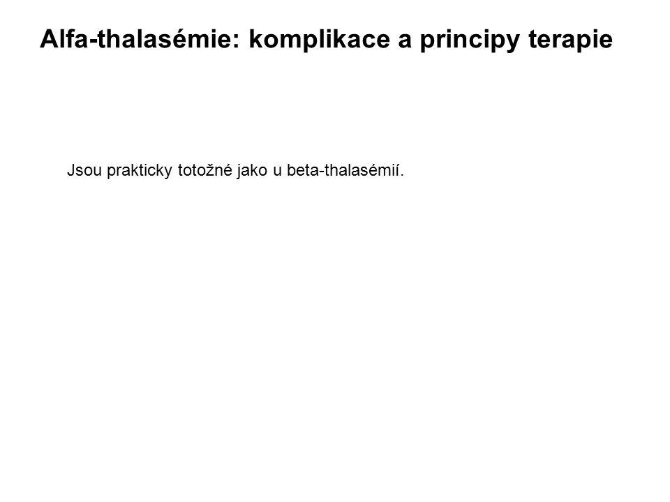 Alfa-thalasémie: komplikace a principy terapie