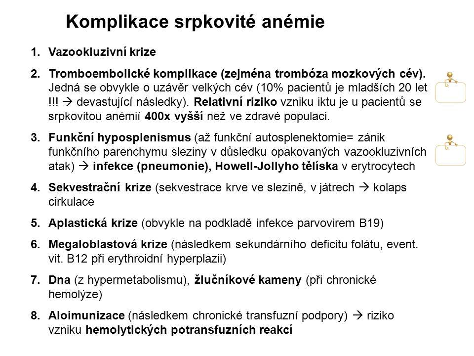 Komplikace srpkovité anémie