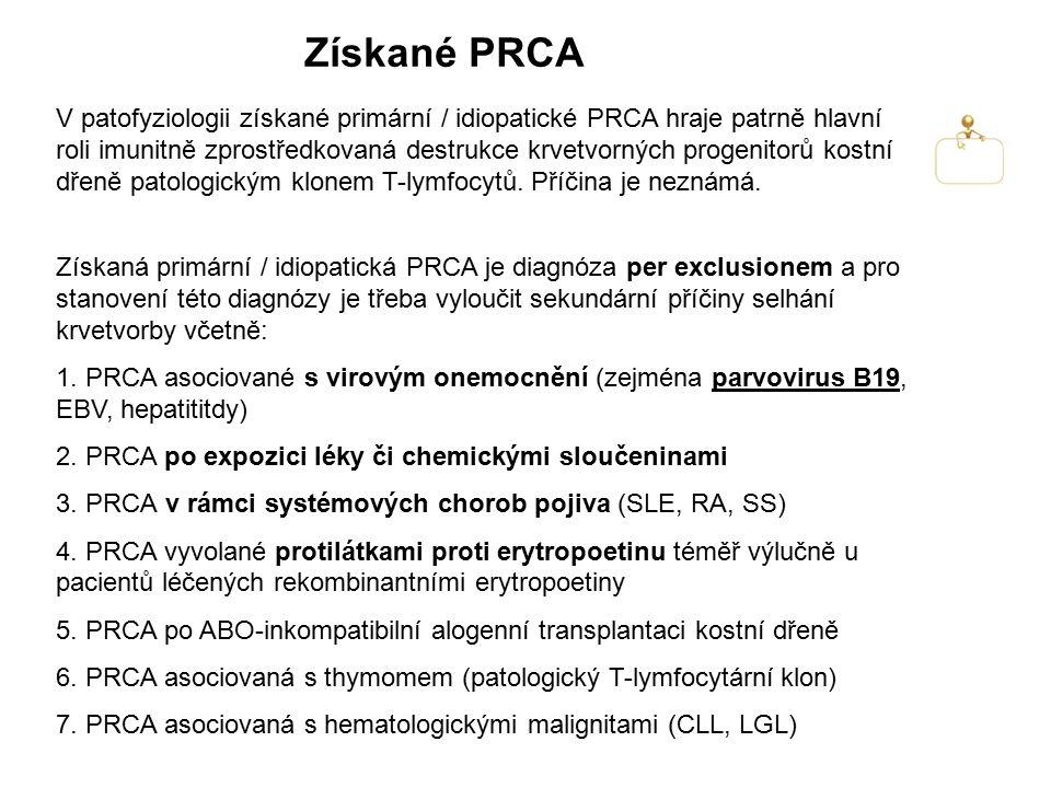 Získané PRCA