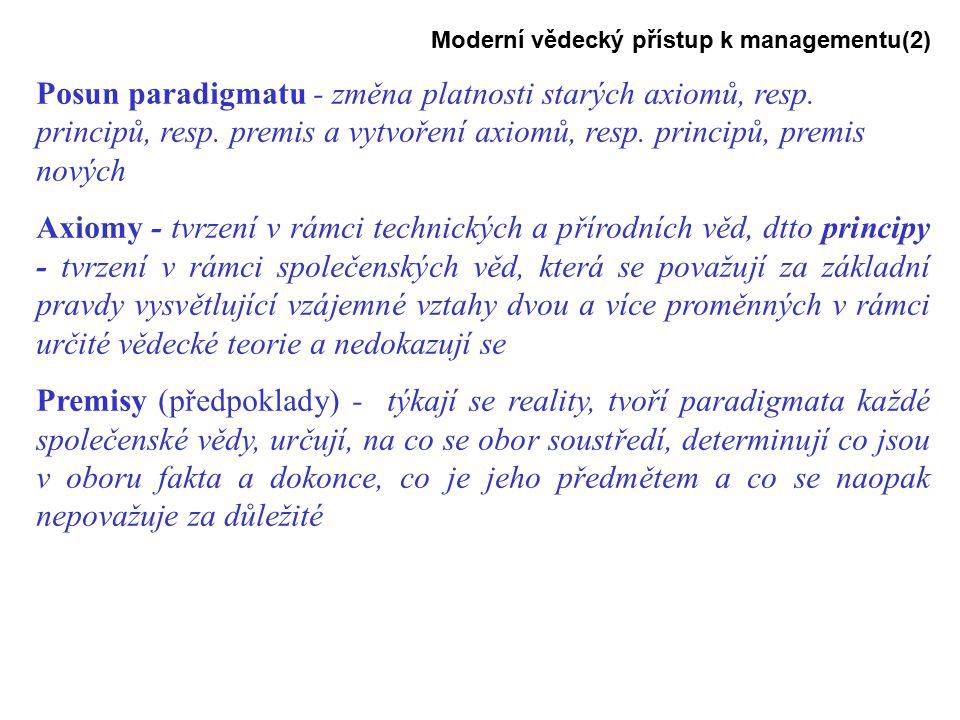 Moderní vědecký přístup k managementu(2)