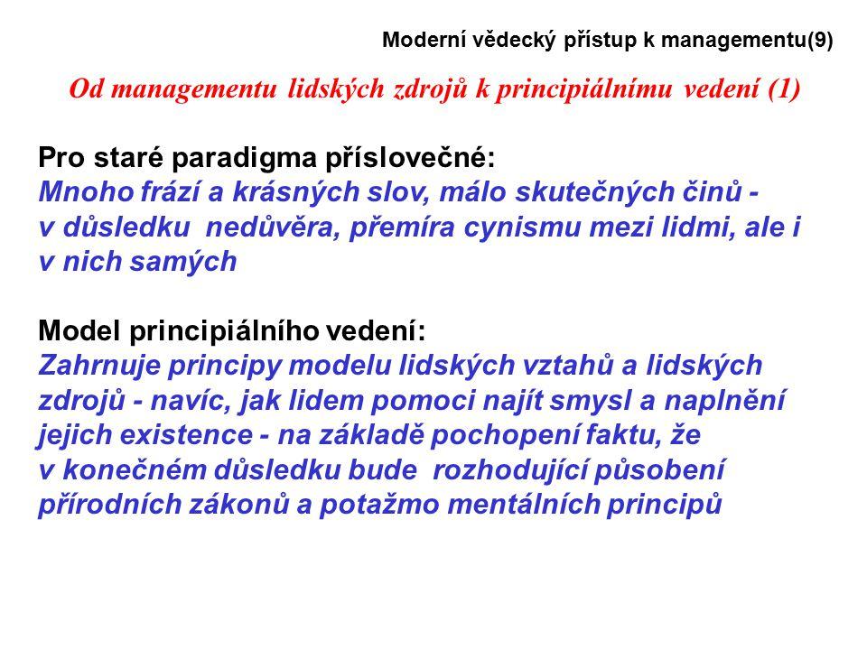 Od managementu lidských zdrojů k principiálnímu vedení (1)