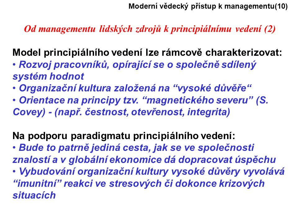 Od managementu lidských zdrojů k principiálnímu vedení (2)