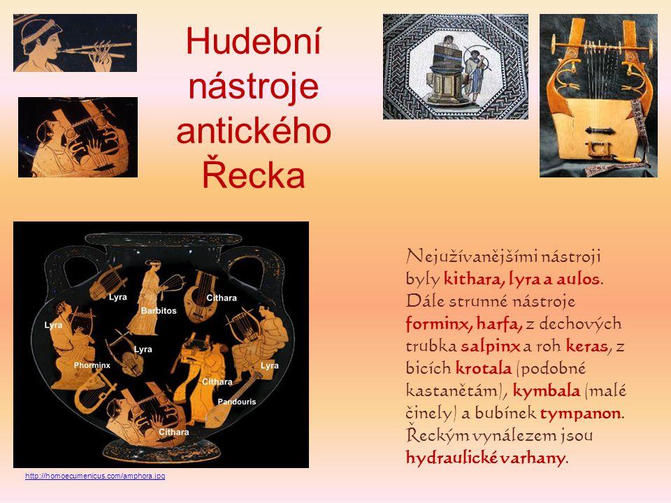 Hudební nástroje antického Řecka