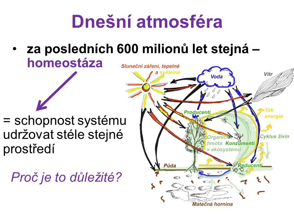 Dnešní atmosféra za posledních 600 milionů let stejná – homeostáza