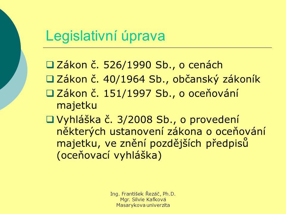 Ing. František Řezáč, Ph.D. Mgr. Silvie Kafková Masarykova univerzita