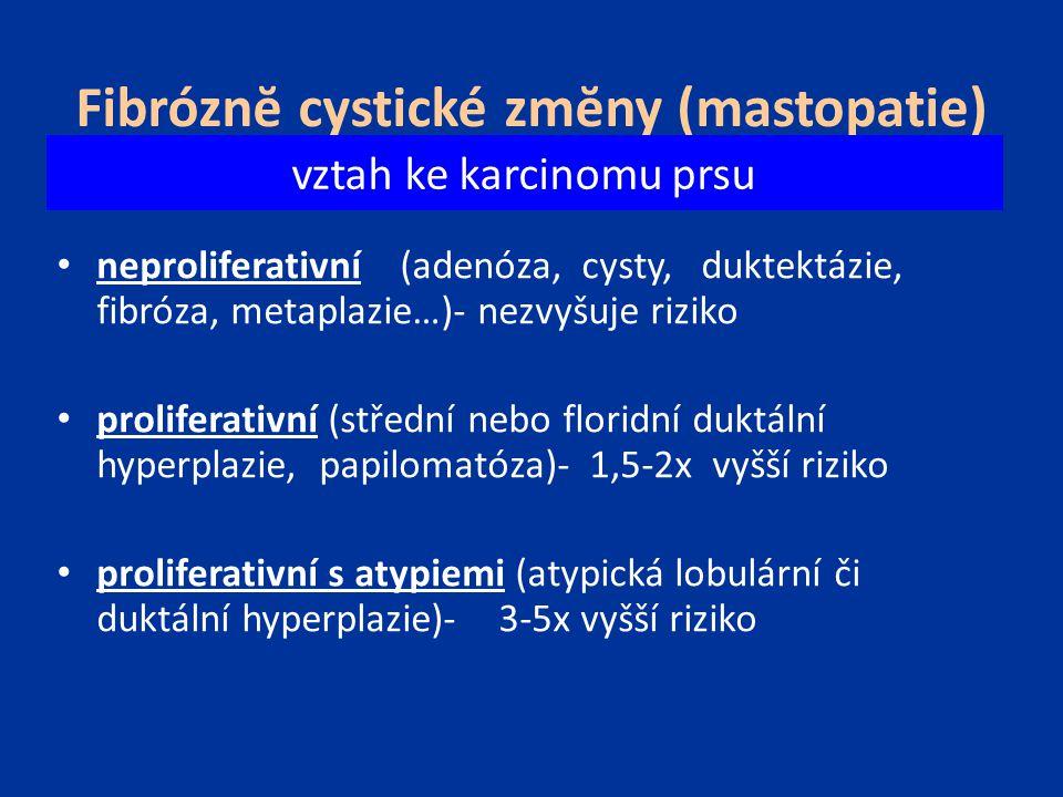 Fibróznĕ cystické zmĕny (mastopatie)